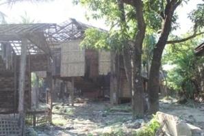 Habitations rohingyas brûlées