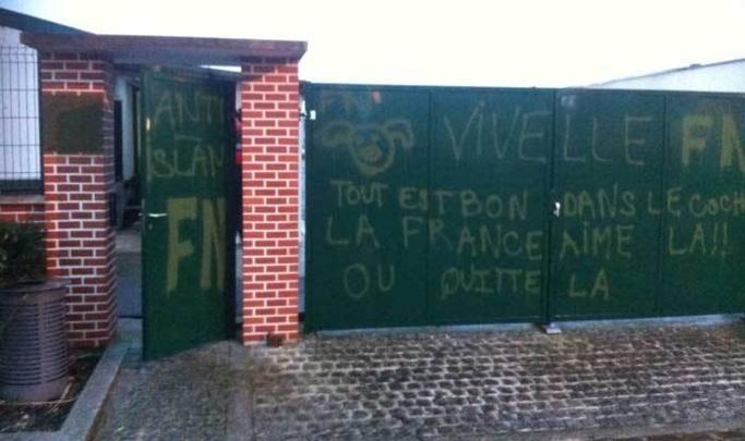 Islamophobie : tags pro-FN sur une mosquée dans l'Eure