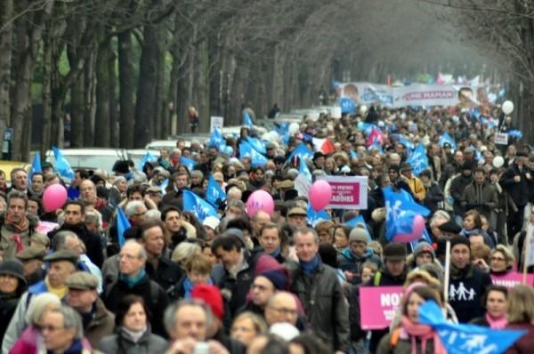 Entre 340 000 et 1 million de manifestants contre la mariage pour tous, dimanche 13 janvier.