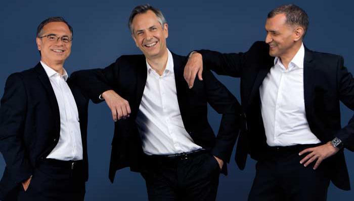 Ensemble, Philippe Darmon (juif), Matthieu de Laubier (catholique) et Farid Abdelkrim (musulman) ont donné naissance à l'album « Liberté ». © Bayard Musique