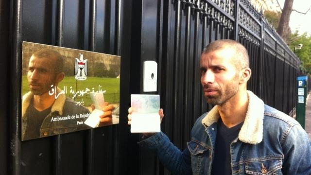 Nadir Dendoune avant son départ vers l'Irak.