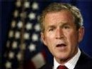 Le président américain M. Bush