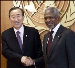 Ban Ki-moon prend ses fonctions à l'ONU