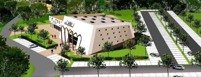 Le projet de mosquée de l'Union cultuelle des musulmans d'Evreux (UCME).