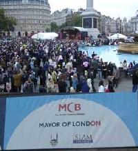 Fête de l'Aïd el Fitr au Trafalgar Square