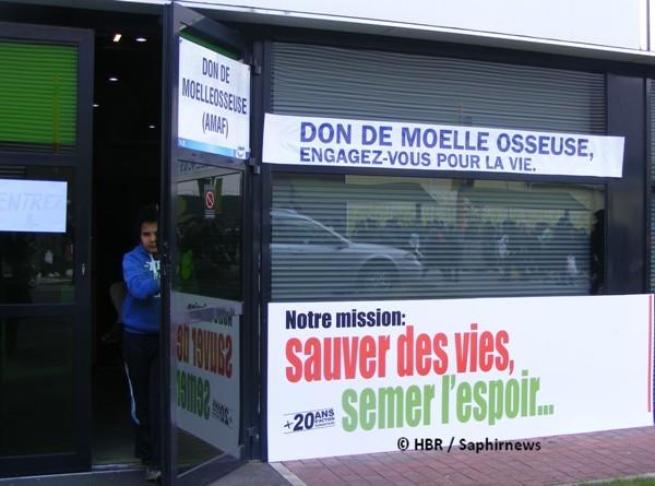 L'espace de don de moelle osseuse de l'Association Médicale Avicenne de France (AMAF) lors de la 30e Rencontre Annuelle des Musulmans de France (RAMF).