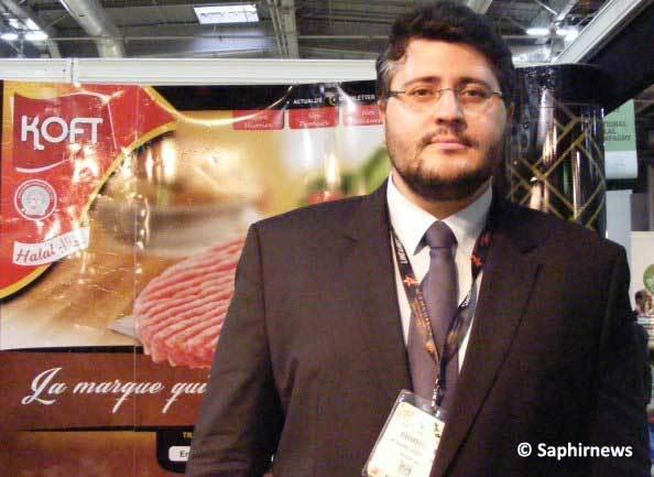 Farid Abbas Turki, le directeur général France de Koft, au salon Halal Expo, mardi 9 avril.