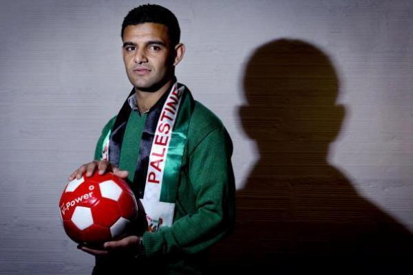 Le footballeur palestinien Mahmoud Sarsak, libéré des geôles israéliennes en juillet 2012 après trois ans de prison et près de 100 jours de grève de la faim.