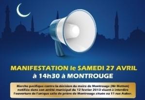 Mosquée Montrouge : les musulmans attaquent le maire en justice