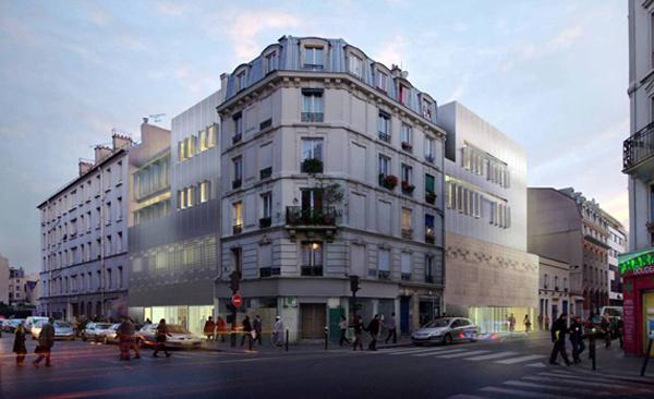 Le projet de l'Institut des cultures d'islam (ICI), rue Stephenson.