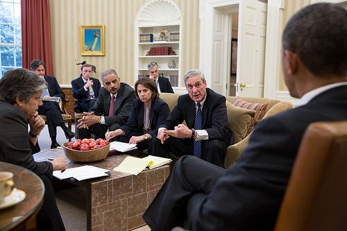 Réunion de crise, le 16 avril, peu après les attentats de Boston, avec le président Obama et les responsables de la sécurité américaine (Photo : Pete Souza / Official White House)