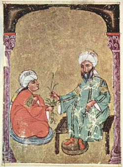 Extrait du manuscrit de Dioscorides, De materia medica, 1229