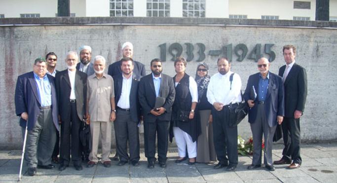 Des responsables religieux musulmans à Auschwitz.