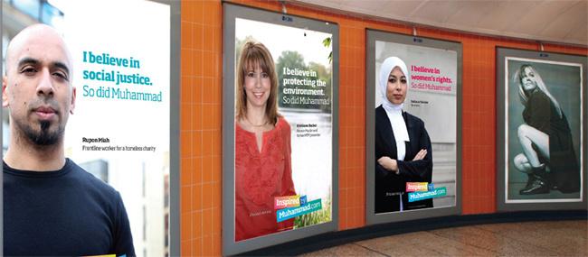 « Inspired by Muhammad », une campagne de communication lancée en 2010 dans les rues de Londres, pour déjouer les clichés tenus sur les musulmans. Une façon proactive de changer l'image de l'islam.