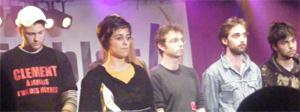 Les amis de Clément Méric lors de la cérémonie des Y'a Bon Awards.