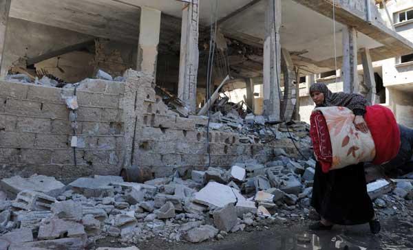 Une scène de destruction de la bande de Gaza après des frappes israéliennes en 2014.  © ONU / Shareef Sarhan