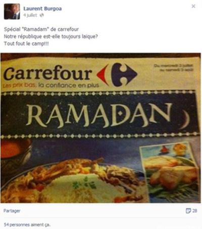 Un élu UMP agacé par les pubs sur le Ramadan