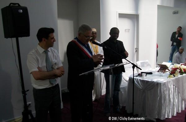 Inauguration de la mosquée de Clichy en présence du maire de la ville Gilles Catoire, dimanche 7 juillet.