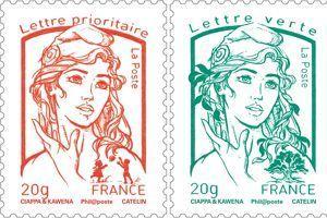 Nouveaux timbres Marianne