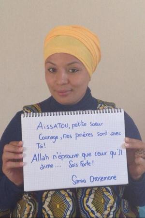 L'humoriste Samia Orosemane soutient la jeune Aïssatou.