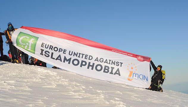 La lutte contre l'islamophobie brandie en haut du Mont Blanc