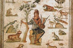 Mosaïque représentant Orphée charmant les animaux. © WikiCommons / Giovanni Dall'Orto
