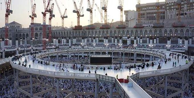 La Kaaba à La Mecque.