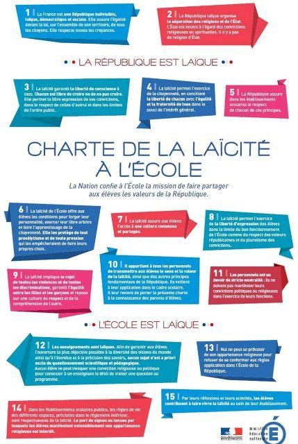 La charte de la laïcité à l'école officialisée