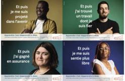 Quatre des huit affiches de la campagne 2021 de l'ANLCI. Montage Saphirnews.com