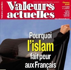 L'islam en Une de Valeurs actuelles en janvier 2011.