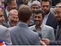 Ahmadinejad saluant les militaires britanniques