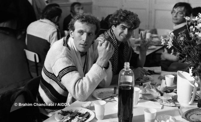 Christian Delorme et Farid Arar, en 1983.