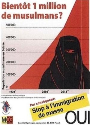 Suisse : plainte contre une affiche islamophobe