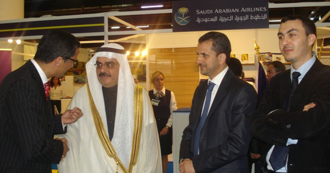 L'Ambassadeur d'Arabie Saoudite à l'inauguration du Salon Hajj Expo en 2009.