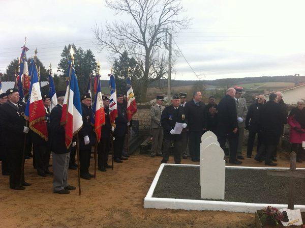 Inauguration du carré militaire de Rigny La Salle, le 22 février 2013.