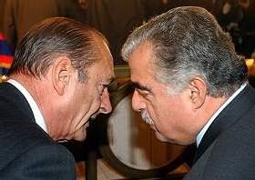 Chirac-Hariri côté cour, côté jardin