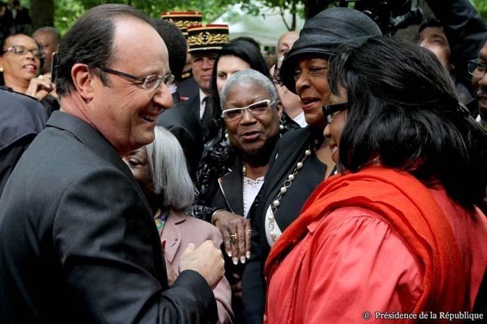 François Hollande lors de la cérémonie de la journée nationale des mémoires de la traite, de l'esclavage et de leurs abolitions, le 10 mai 2013.