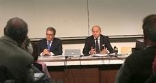 Laurent Fabius, au colloque « Religions et politique étrangère » en novembre 2013. © F.de La Mure/Mae.
