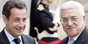 Nicolas Sarkozy et Mahmoud Abbas