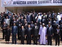9ème sommet annuel de l'Union africaine à Accra (Ghana)