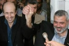 Alan Johnston et Ismaïl Haniyeh