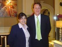 Sayeeda Warsi avec le chef du Parti conservateur, David Cameron