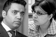 Shahid Malik (à gauche) et Sayeeda Warsi (à droite)