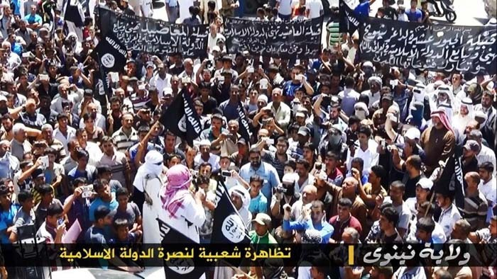 Manifestation de soutien à l'Etat islamique dans la région de Ninive