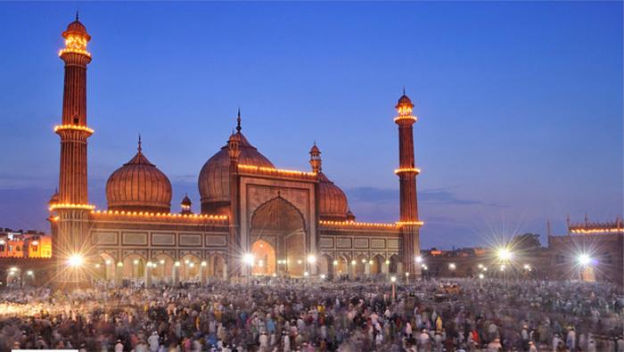 Le 1er prix de l'IRPC 2013 dans la catégorie Architecture. Photo de Nimit Nigam. La mosquée Jama Masjid de Delhi, Inde.