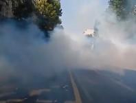 Gaz lacrymogène en plein Paris