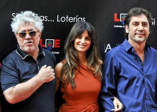 Pedro Almodovar, Penélope Cruz et Javier Bardem (à dr.).