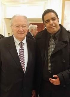 Roger Cukierman (à g.) avec Rachid Birbach.