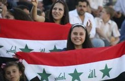 Des supporters irakiens