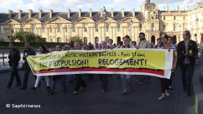 Les chibanis manifestent avec les associations pour le logement